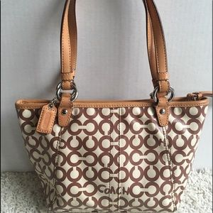 Adorable Coach Brown/Tan Handbag